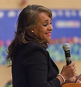 Houston ISD Trustee Rhonda Skillern-Jones comments during a stop of the Listen & Learn tour at Black Middle School, September 20, 2016.