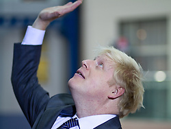 © Licensed to London News Pictures. 09/10/2012. Birmingham , UK . Boris Johnson , the Mayor of London , after delivering his speech to the conference . Day 3 of the Conservative Party Conference at the International Convention Centre in Birmingham . Photo credit : Joel Goodman/LNP