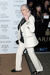 Vanesa Redgrave attending the Harper's Bazaar Woman of the Year awards at Claridges in London. Picture date: Monday October 31, 2016. Photo credit should read: Isabel Infantes / EMPICS Entertainment.