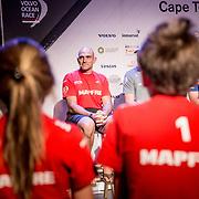 © Maria Muina I MAPFRE. Skippers press conference in Cape Town. Rueda de prensa de patrones en Cape Town.