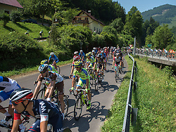 07.07.2015, Windischgarsten, AUT, Österreich Radrundfahrt, 3. Etappe, Windischgarsten nach Judendorf, im Bild Das Hauptfeld im Ennstal (OÖ) // maingroup at Ennstal during the Tour of Austria, 3rd Stage, from Windischgarsten to Judendorf, Windischgarsten, Austria on 2015/07/07. EXPA Pictures © 2015, PhotoCredit: EXPA/ Reinhard Eisenbauer