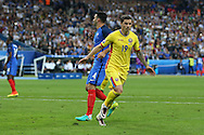 Romania Forward Bogdan Stancu celebrates his goal 1-1 during the Group A Euro 2016 match between France and Romania at the Stade de France, Saint-Denis, Paris, France on 10 June 2016. Photo by Phil Duncan.