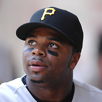 01 June 2007:  Pittsburgh Pirates center fielder Rajai Davis (10) in action against the Washington Nationals.  The Pirates defeated the Nationals 3-2 at RFK Stadium in Washington, D.C.  ****For Editorial Use Only****