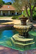 Outdoor fountain at the La Purisma Mission State Historical Park, near Lompoc, Santa Barbara County, California