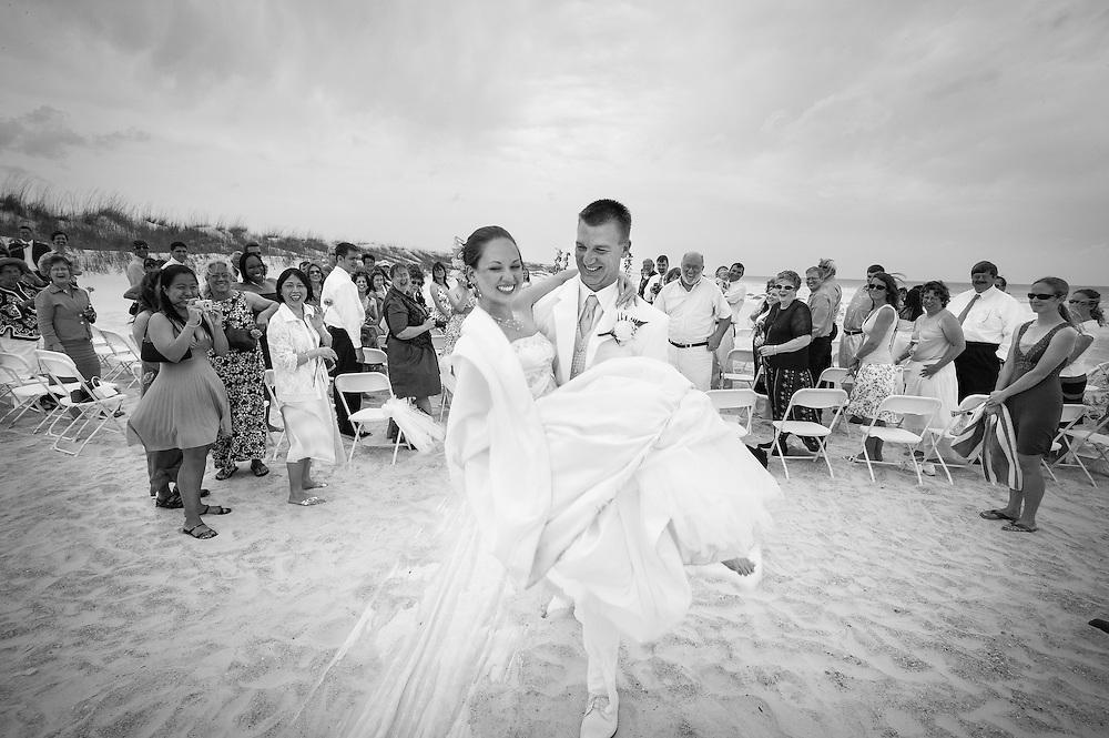 Audrey and Scott Bluer wedding in St. Augustine, Florida.