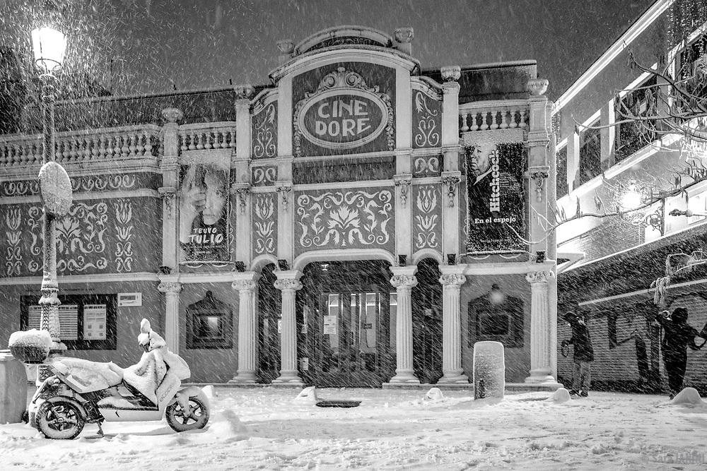 Filomena Snowfall, Madrid, Spain