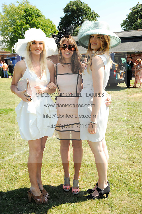 Left to right, LOUISA PATTERSON, GABRIELLA PATTERSON and SOPHIE RICE at the third day of the Royal Ascot 2010 (Ladies Day) Racing Festival at Ascot Racecourse, Bershire on 17th June 2010.