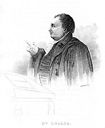 John Leslie (1766-1832), Scottish natural philosopher and physicis, lecturing. 19th century.  He was Professor of Mathematics at Edinburgh 1805 and of Natural Philosophy 1819.  In 1810 Leslie created artificial ice.  Knighted in 1832.