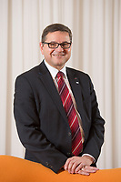 23 OCT 2014, BERLIN/GERMANY:<br /> Gerd Deimel, Vice President und Leiter Global Logistics Management LANXESS Deutschland GmbH, Hotel Intercontinental<br /> IMAGE: 20141023-02-038
