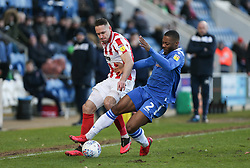 Ryan Jackson of Colchester United and Chris Hussey of Cheltenham Town tussle for the ball - Mandatory by-line: Arron Gent/JMP - 29/02/2020 - FOOTBALL - JobServe Community Stadium - Colchester, England - Colchester United v Cheltenham Town - Sky Bet League Two