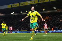 Football - Premier League - Norwich City vs. Sunderland<br /> <br /> <br /> Anthony Pilkington celebrates scoring the second goal for Norwich City at Carrow Road, Norwich