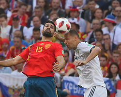 July 1, 2018 - Moscow, Russia - July 01, 2018, Russia, Moscow, FIFA World Cup 2018, the playoff round. Football match Spain - Russia at the stadium Luzhniki. Player of the national team Sergey Ignashevich. (Credit Image: © Russian Look via ZUMA Wire)