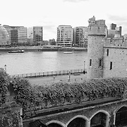 Tower Of London - Historic And Modern View - London - Black & White