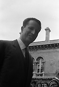 Belgian Royals King Baudouin and Queen Fabiola at Trinity College Dublin.<br /> 15.05.1968