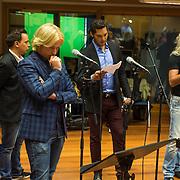 NLD/Hilversum/20130930 - Repetitie Metropole Orkest voor concert, L.A. the Voices, Remko Harms, Richy Brown, Roy van den Akker en Peter William Strykes