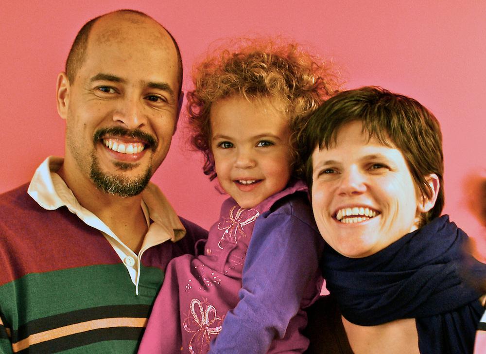 Bi-racial family Informal Portrait