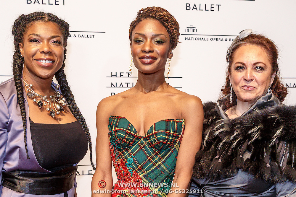NLD/Amsterdam/20160206 - Premiere balletvorstelling Mata Hari, Sylvana Simons en ...............
