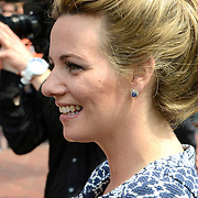 Koningsdag 2014 in Amstelveen, het vieren van de verjaardag van de koning. / Kingsday 2014 in Amstelveen, celebrating the birthday of the King. <br /> <br /> <br /> Op de foto / On the photo:  Prinses Annette /  Princess Annette