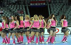 FlyGirlz Cheerleaders during 21st Men's World Handball Championship 2009 Main round Group I match between National teams of Slovakia and Korea, on January 24, 2009, in Arena Zagreb, Zagreb, Croatia.  (Photo by Vid Ponikvar / Sportida)