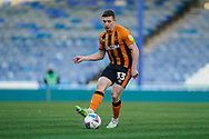 Greg Docherty of Hull City on action during the EFL Sky Bet League 1 match between Portsmouth and Hull City at Fratton Park, Portsmouth, England on 23 January 2021.