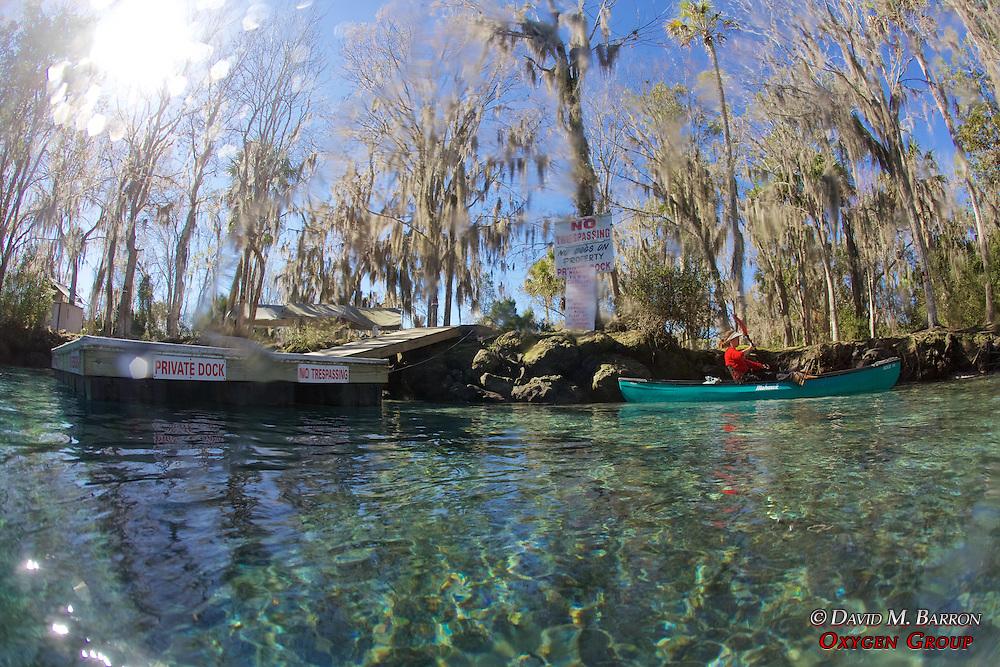 Kayaker In Back Pool, Three Sisters Spring