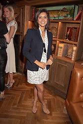 Lucy Verasamy at the launch of Mr Fogg's Society of Exploration, 1a Bedford Street, London,  England. 13 September 2018.