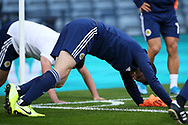 Scotland defender Andrew Robertson (3) (Liverpool) warming up during the UEFA European 2020 Qualifier match between Scotland and Russia at Hampden Park, Glasgow, United Kingdom on 6 September 2019.