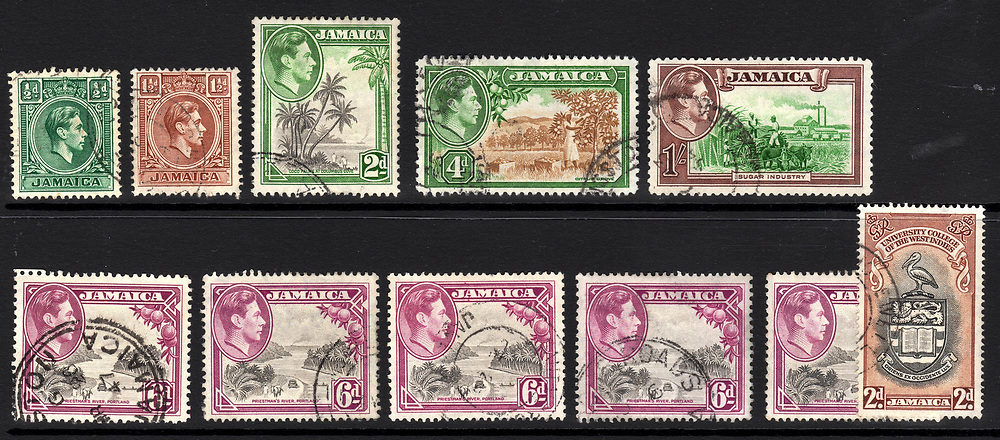 Jamaica postage stamps. 1951 and earlier