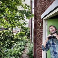 Nederland, Amsterdam , 24 april 2014.<br /> Frank de groen neemt afscheid als voorzitter van Vogelwerkgroep Amsterdam.<br /> Foto:Jean-Pierre Jans