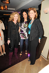 Left to right, KELLY HOPPEN, KANYA KING and SARAH BROWN at a party to promote Marie Claire magazine Inspire & Mentor Campaign held at The Loft, The Ivy Club, West Street, London on 30th March 2010.