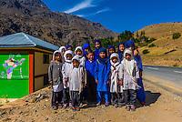 Muslim school children in Dras, Ladakh, Jammu and Kashmir State, India.