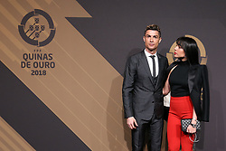 March 19, 2018 - Lisbon, Lisbon, Portugal - Portugal's forward Cristiano Ronaldo (L) accompanied by Georgina Rodriguez (C) poses on arrival at 'Quinas de Ouro' 2018 ceremony held and the Pavilhao Carlos Lopes in Lisbon, on March 19, 2018. (Credit Image: © Dpi/NurPhoto via ZUMA Press)