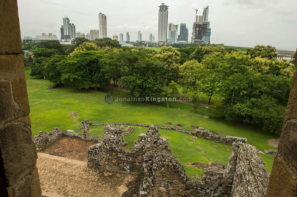 The ruins of Panama Viejo, Panama City, Panama.