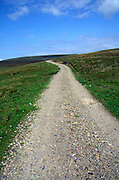 Small country road going into the distance, Upper Teesdale, England