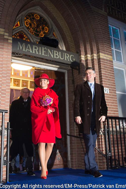 Koningin Maxima opent de Jheronimus Academy of Data Science (JADS) in het voormalig klooster Mariënburg in 's-Hertogenbosch.<br /> <br /> Queen Maxima Opens Tomorrow the Hieronymus Academy of Data Science (JADS) in the former convent Marienburg in 's-Hertogenbosch.<br /> <br /> Op de foto / On the photo:  Koningin Maxima tijdens de opening van de Jheronimus Academy of Data Science //// Queen Maxima at the opening of the Academy of Hieronymus Data Science