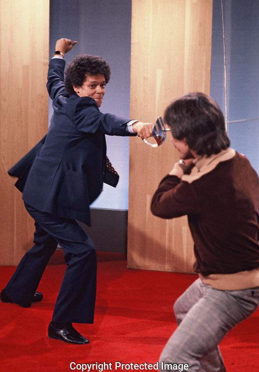 Washington, DC 1978/03/01  Julian Bond appears on a Washington, DC talk show.<br /><br />Photo by Dennis Brack