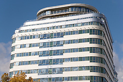 Marcus Island; a new modern design building in the city of Nottingham,