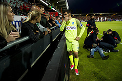May 31, 2017 - Oostende, BELGIUM - Genk's goalkeeper Mathew Ryan greets the fans after the Jupiler Pro League match between KV Oostende and KRC Genk, in Oostende, Wednesday 31 May 2017, the game for the last European ticket between the fourth placed club of Play-off 1 and the winner of the Play-Off 2 of the Belgian soccer championship. BELGA PHOTO JASPER JACOBS (Credit Image: © Jasper Jacobs/Belga via ZUMA Press)