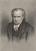 Amos Eaton (1776-1842) American botanist, geologist, lawyer and public lecturer.  Engraving, 1896.  Scientist