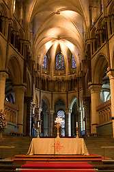 Canterbury/Kent/England - Motherchurch of the Anglican Communion, seat of the Archbishop. Stunning stained glass. Eleventh Century Crypt, Twelfth Century Quire, Fourteenth Century Nave. The Cathedral's history goes back to 597AD when St Augustine, sent by Pope Gregory the Great as a missionary, established his seat (or 'Cathedra') in Canterbury. In 1170 Archbishop Thomas Becket was murdered in the Cathedral and ever since, the Cathedral has attracted thousands of pilgrims, as told famously in Geoffrey Chaucer's Canterbury Tales.canterbury, england, united kingdom, uk, kent, church, canterbury tales, Geoffery Chaucer