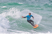 Pedro Henrique (PRT) Runner Up in Final of Quicksilver Pro Surfing Championships at Boardmasters 2019 at Fistral Beach, Newquay, Cornwall, United Kingdom on 11 August 2019.