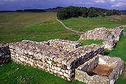 Housesteads roman fort Hadrian's wall Northumberland, England, UK