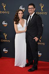 Emmy Rossum & Sam Esmail bei der Verleihung der 68. Primetime Emmy Awards in Los Angeles / 180916<br /> <br /> *** 68th Primetime Emmy Awards in Los Angeles, California on September 18th, 2016***
