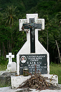 CemeteryHanavave, Island of Fatu Hiva, Marquesas Islands, French Polynesia<br />