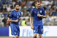 Nice (Francia) 07-06-2017 Stadio Allianz Riviera Friendly match Italia - Uruguay / Italy - Uruguay foto Image Sport/Insidefoto<br /> nella foto: Andrea Barzagli-Leonardo Bonucci