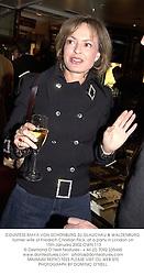 COUNTESS MAYA VON SCHONBURG ZU GLAUCHAU & WALDENBURG former wife of Friedrich Christian Flick, at a party in London on 15th January 2002.OWN 113