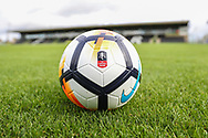 The FA cup ball during the The FA Cup match between Forest Green Rovers and Macclesfield Town at the New Lawn, Forest Green, United Kingdom on 4 November 2017. Photo by Shane Healey.
