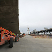 The San Francisco-Oakland Bay Bridge is under construction, and scheduled to open Labor Day 2013. The Self-Anchored Suspension Span (SAS) is the largest bridge of its kind in the world measuring 2,047 feet. This engineering and construction marvel raises the bridge building bar to new heights, as seen in these behind the scenes photos taken of the Yerba Buena Island section on Monday, March 18, 2013. (AP Photo/Alex Menendez)