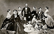 Prince Albert (Prince Consort) with Queen Victory and their Children.