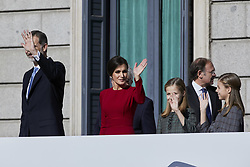 King Felipe VI of Spain, Queen Letizia of Spain, Princess Leonor of Spain and Princess Sofia of Spain attends to 40 Anniversary of Spanish Constitution at Congreso de los Diputados in Madrid, Spain, December 6, 2018. Photo by A. Perez Meca/AlterPhotos/ABACAPRESS.COM